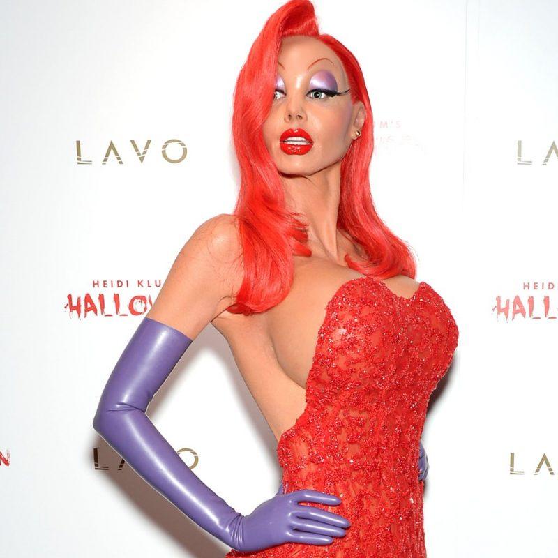 Halloween Kostüm Heidi Klum Jessica Rabbit erstaunlich