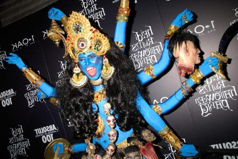 Halloween Kostüm Heidi Klum schaurig Kali