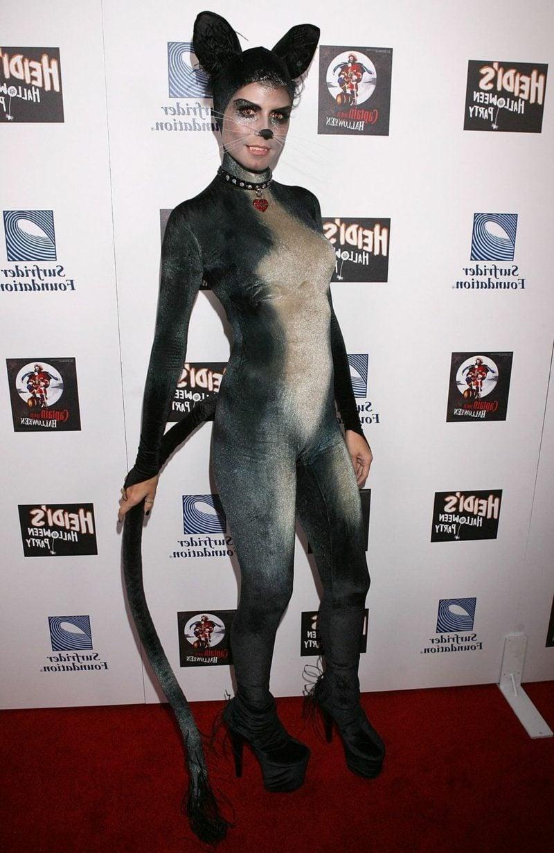 Halloween Kostüm Heidi Klum süsse Katze