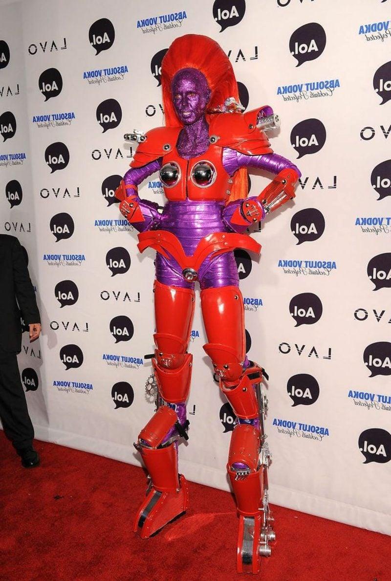 Halloween Kostüm Heidi Klum ausgefallene Superheldin