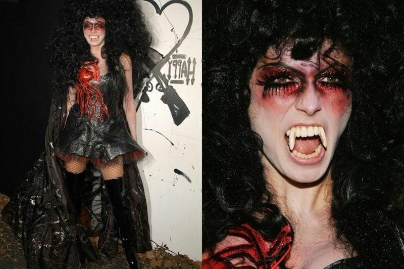 Halloween Kostüm Heidi Klum Vampir