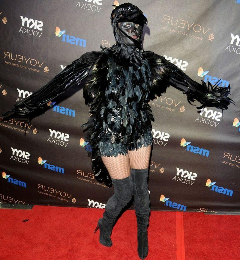 Halloween Kostüm Heidi Klum Rabe