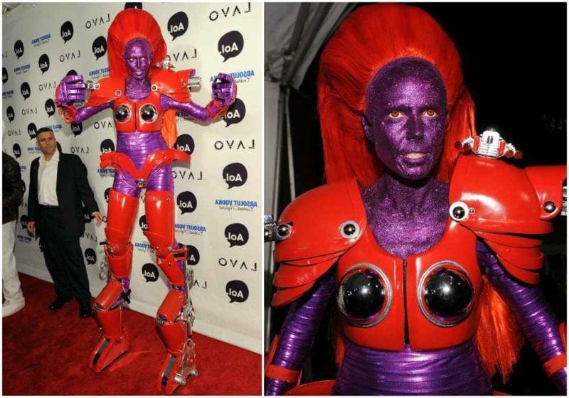 Halloween Kostüm Heidi Klum ausgefallen Superheldin