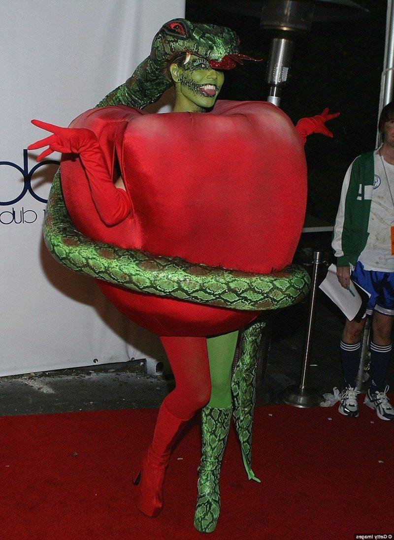 Halloween Kostüm Heidi Klum die verbotene Frucht