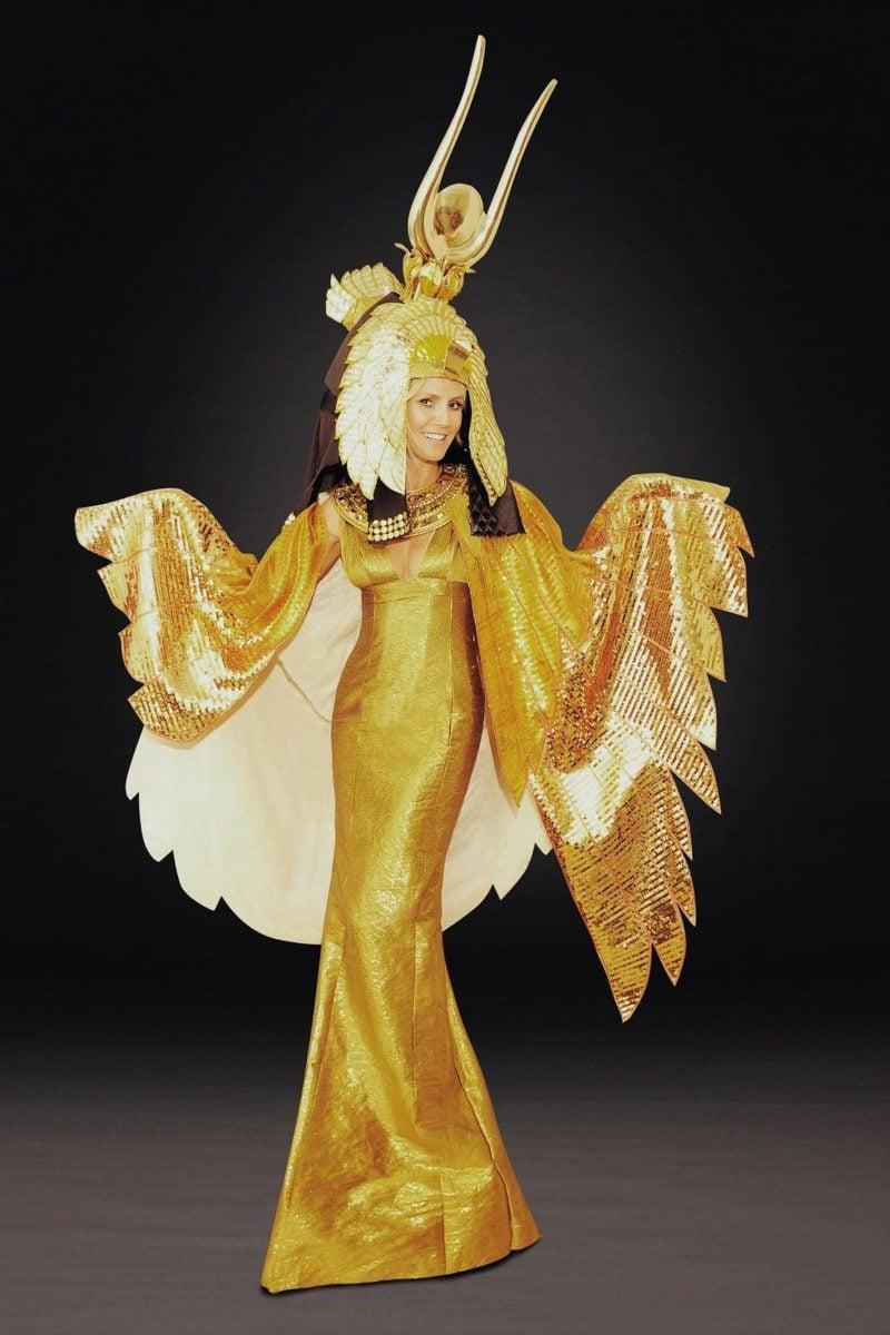 Halloween Kostüm Heidi Klum golden Kleopatra
