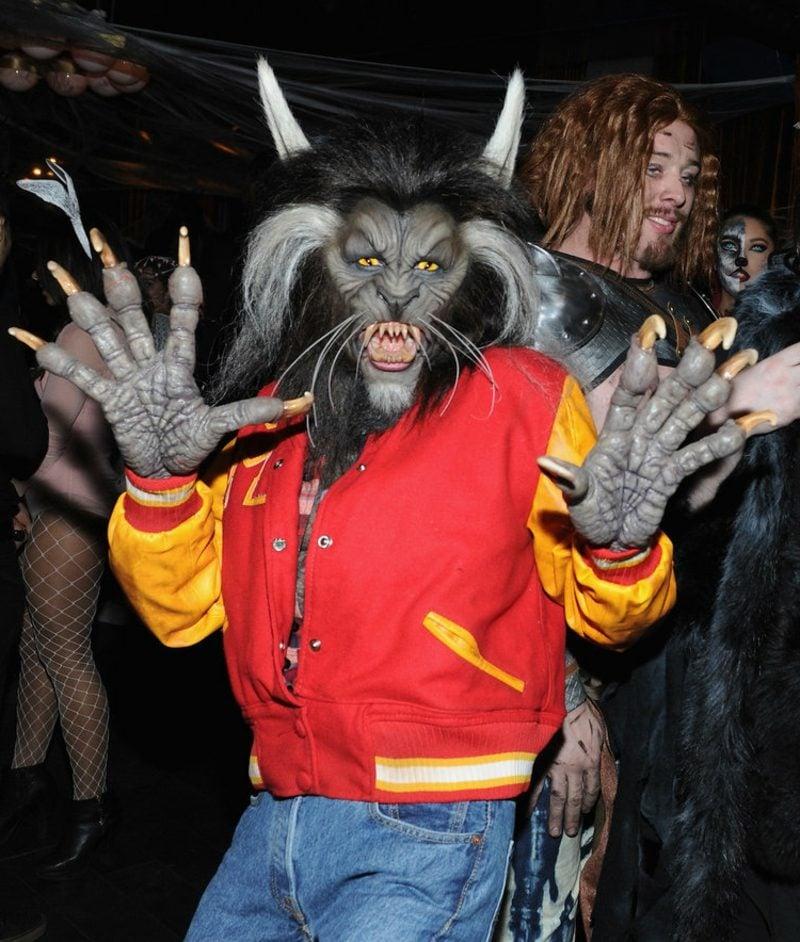 Halloween Kostüm Heidi Klum Werwolf realistisch gruselig