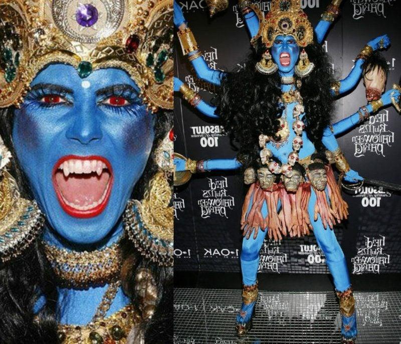 Halloween Kostüm Heidi Klum schaurig die Göttin Kali