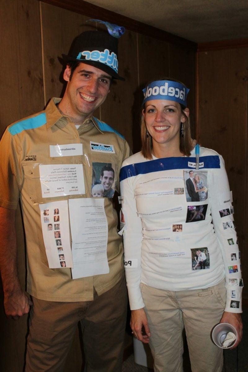 lustige Kostüme Facebook und Twitter