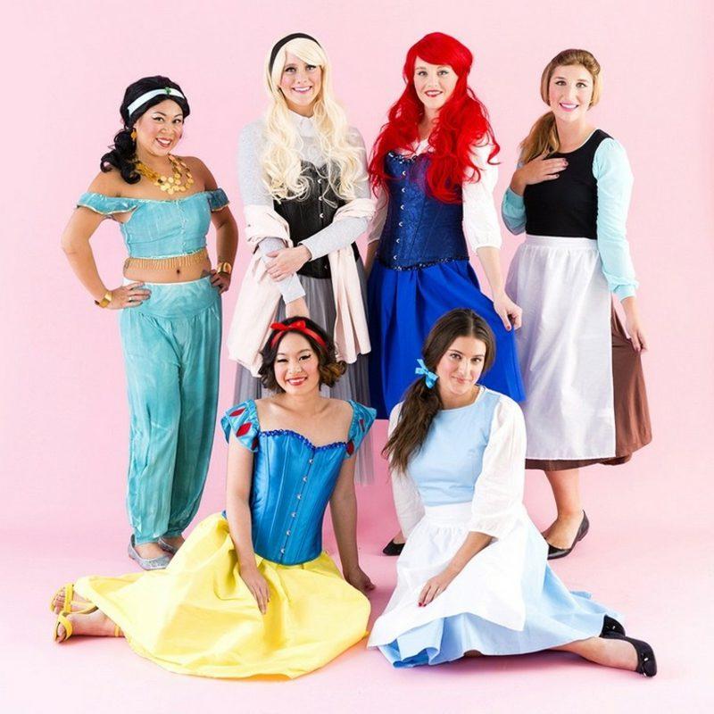 lustige Kostüme Disney Prinzessinnen