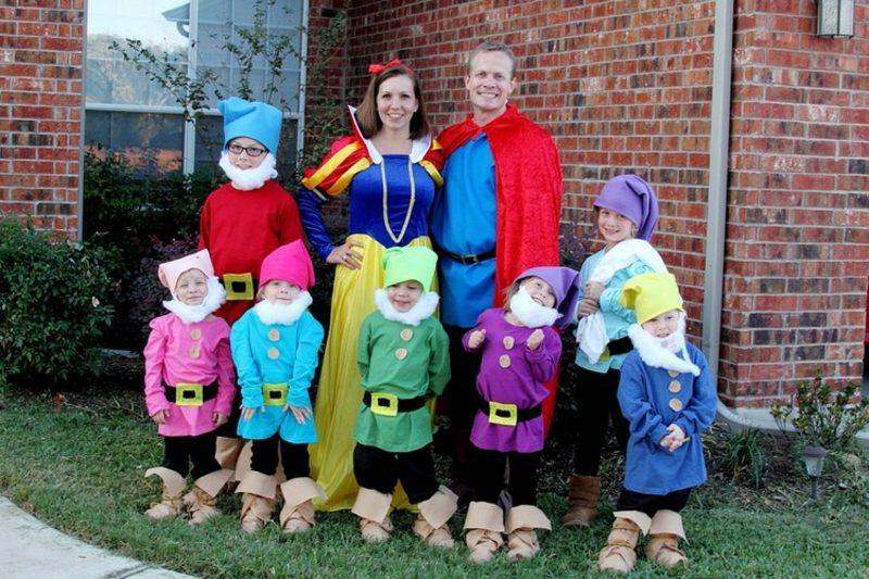lustige Kostüme Schneewittchen und die sieben Zwerge