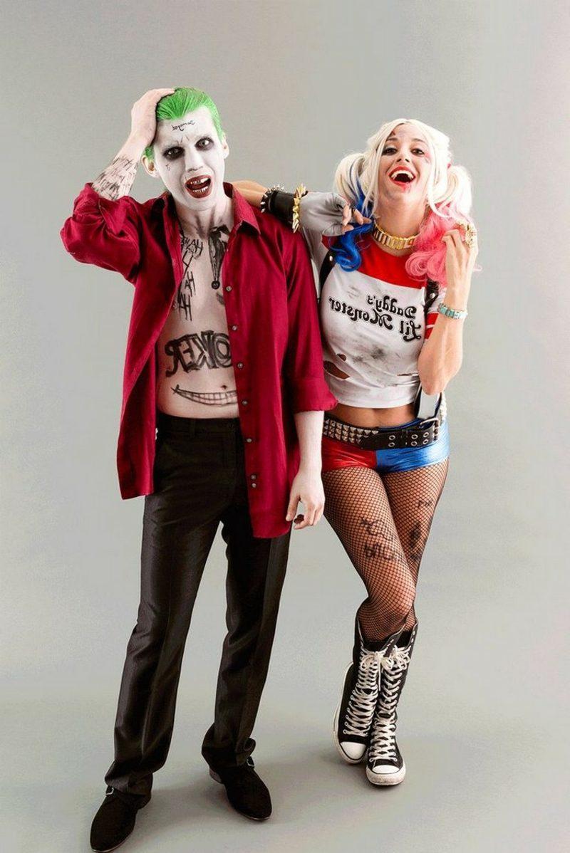 lustige Kostüme Harley Quinn und Joker