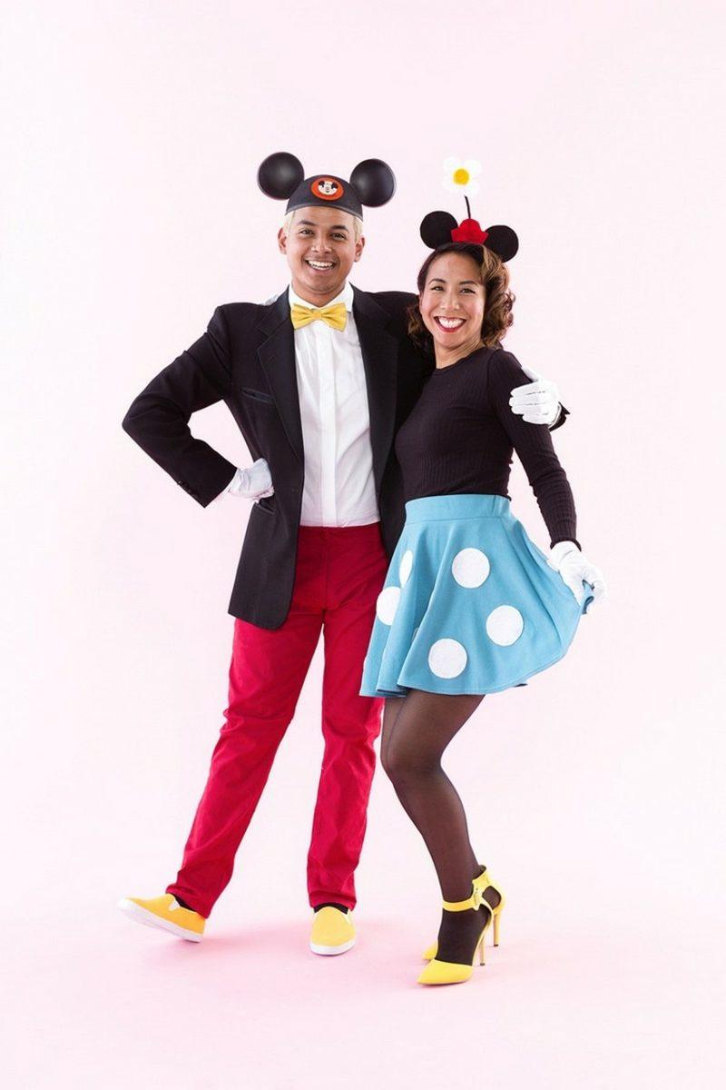 lustige Kostüme Minnie und Mickey Maus