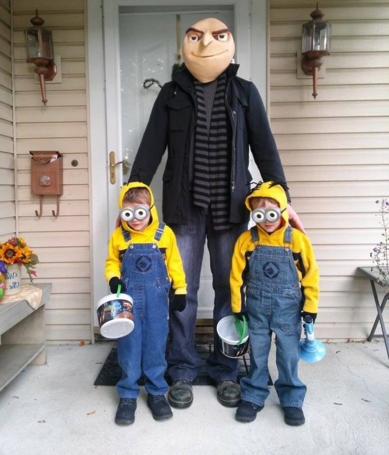 lustige Kostüme Familie Minions