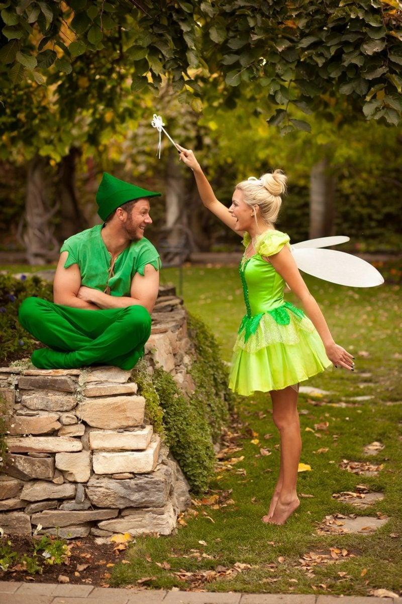 lustige Kostüme Peter Pan und Tinker Bell