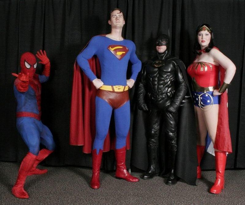 lustige Kostüme Superhelden