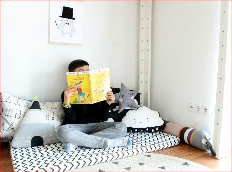 Kuschelecke Kinderzimmer tolle Ideen Junge