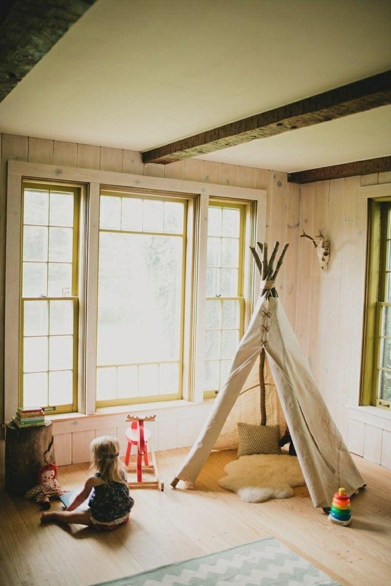 Kuschelecke Kinderzimmer Zelt modern Indianer-Look