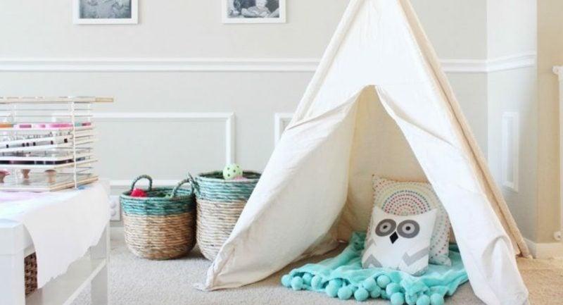 Kuschelecke Kinderzimmer Zelt Dekokissen Eule