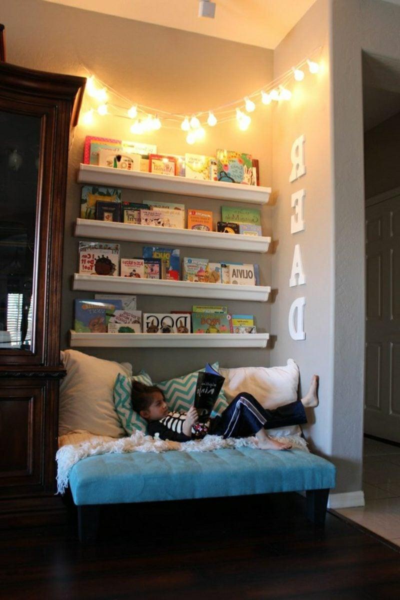 Kuschelecke Kinderzimmer Lesen Lichterketten