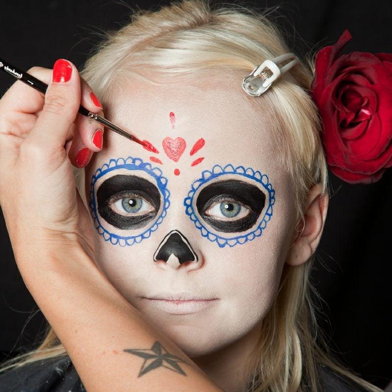 Halloween Schminken Kinder La Catrina
