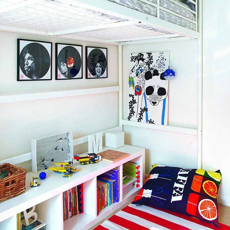 Kuschelecke Kinderzimmer zum Lesen Bücherregale
