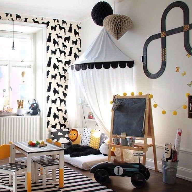 Kuschelecke Kinderzimmer modern Himmelsbett
