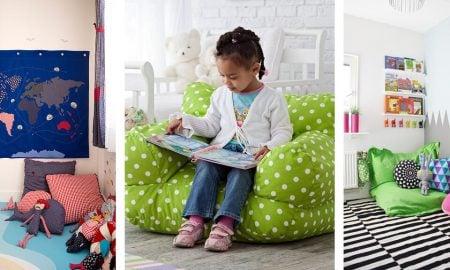 Kuschelecke Kinderzimmer gestalten moderne Ideen