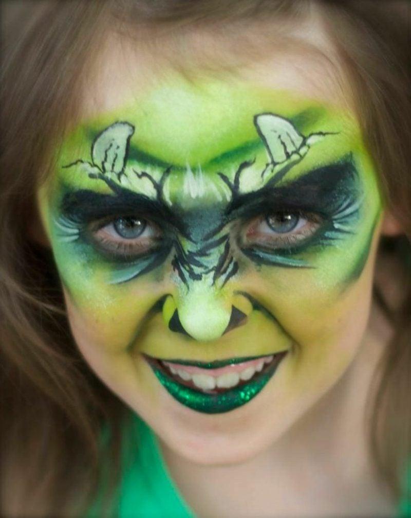 Halloween Schminken Kinder Monster Mädchen