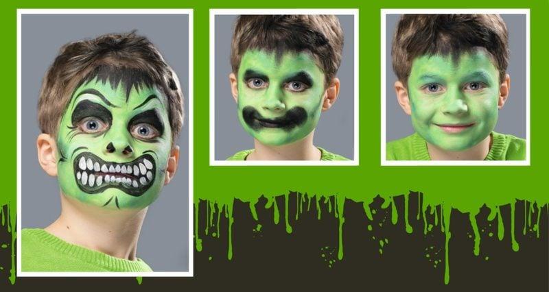 Halloween Schminken Kinder Monster Make up selber machen