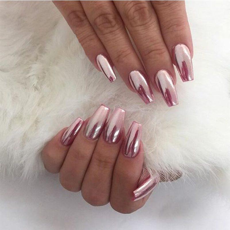 rosa Nägel künstlich hochglanz