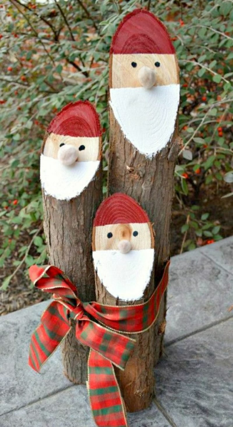 Nikolaus basteln kreativ Holz