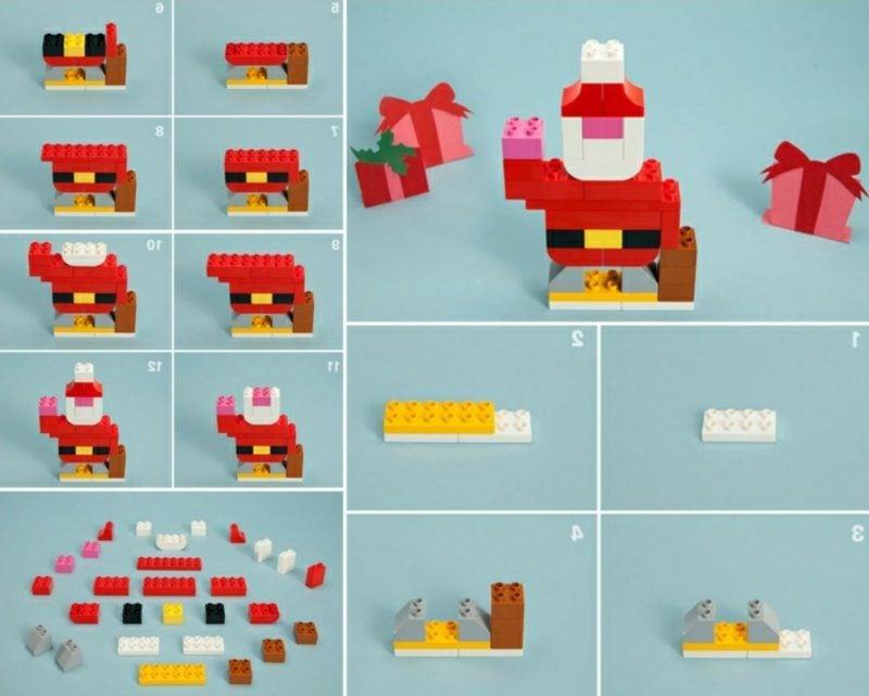 Nikolaus basteln Lego tolle Idee