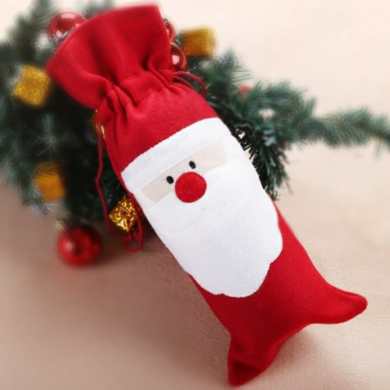 Nikolaus basteln aus Filz Verpackung kleines Geschenk
