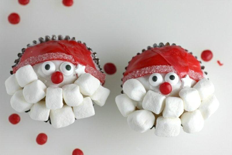 Nikolaus basteln mit Kindern Marshmallows