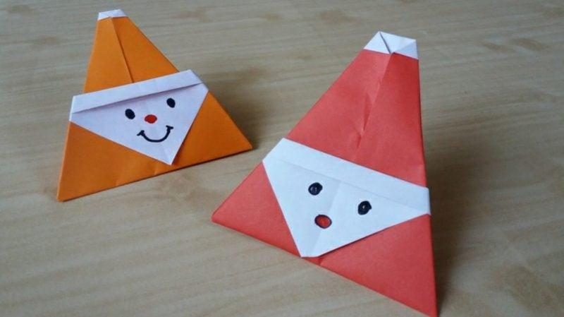 Nikolaus basteln Origami falten toll