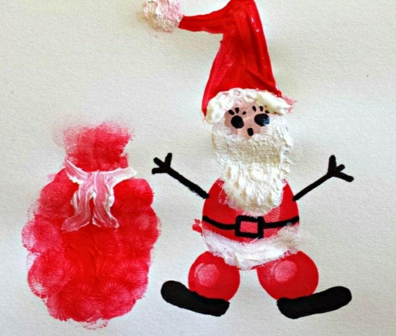 Nikolaus basteln mit Kindern malen