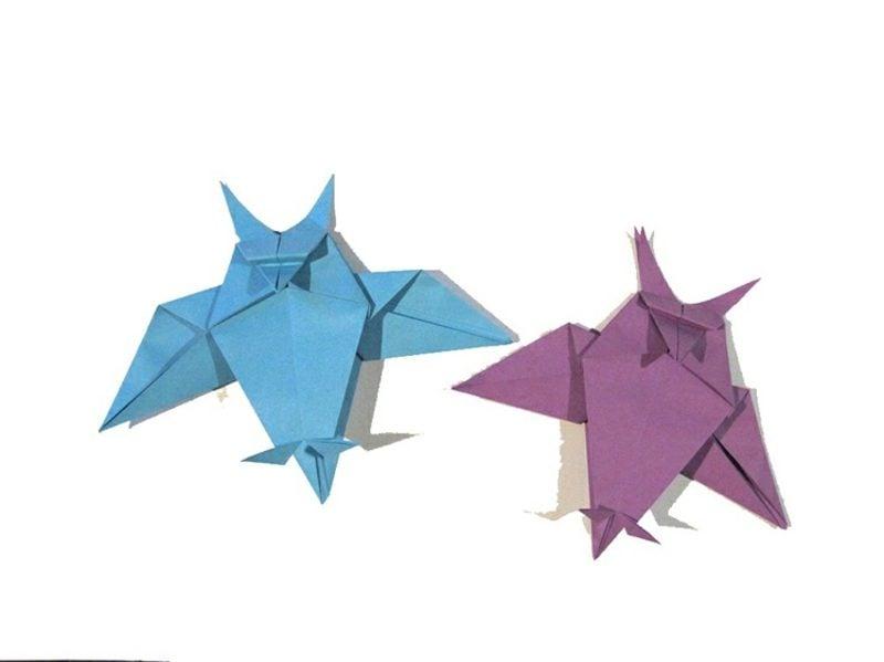 Bastelideen für Erwachsene Origami Eule selber machen