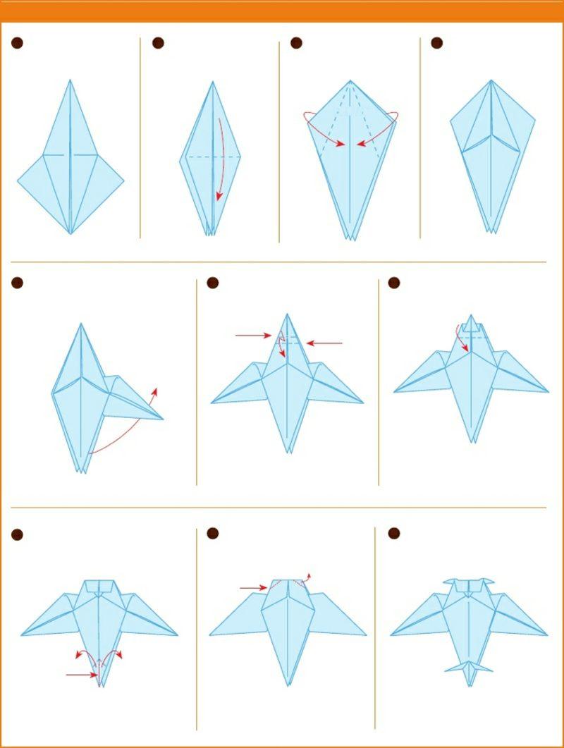 Bastelideen für Erwachsene Origami Eule Anleitung