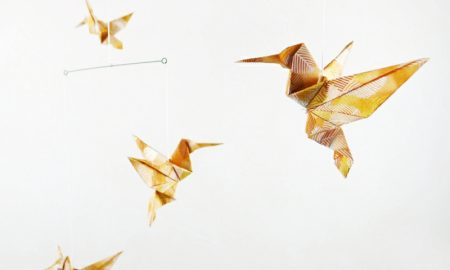 Bastelideen für Erwachsene Vogel Origami Kolibri falten