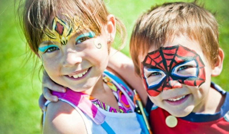 Halloween Schminken Kinder Spiderman Prinzessin