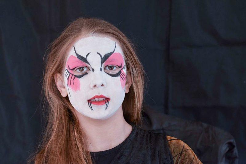 Halloween Schminken Kinder Hexe origineller Look