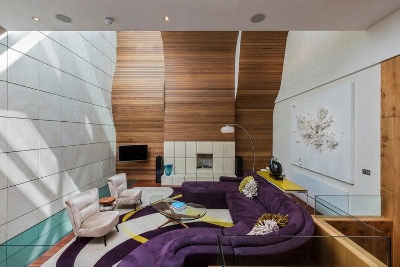 rundes Sofa Violett modular super stilvoll