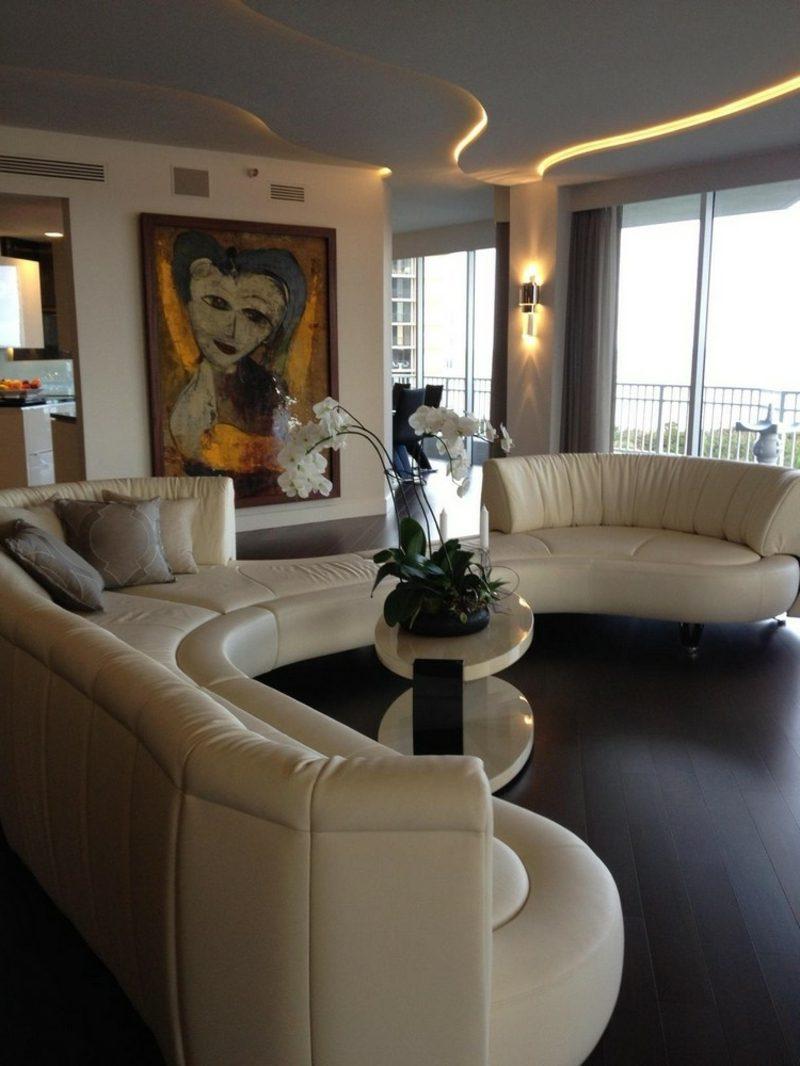 rundes Sofa gross elegantes Design