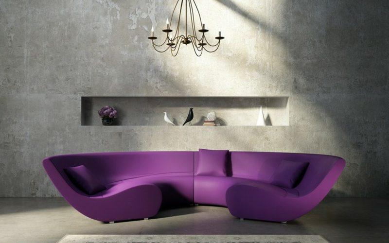 rundes Sofa Purpur super modernes Design
