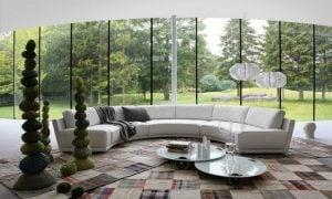 rundes Sofa weiss herrlicher Look