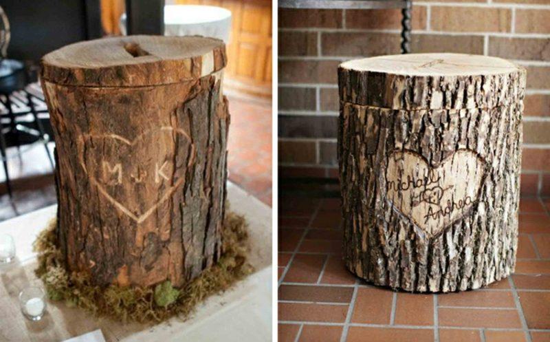 Spardose basteln kreative DIY Ideen Baumstamm