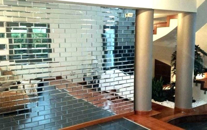 Spiegelfliesen Akzentwand eindrucksvoll