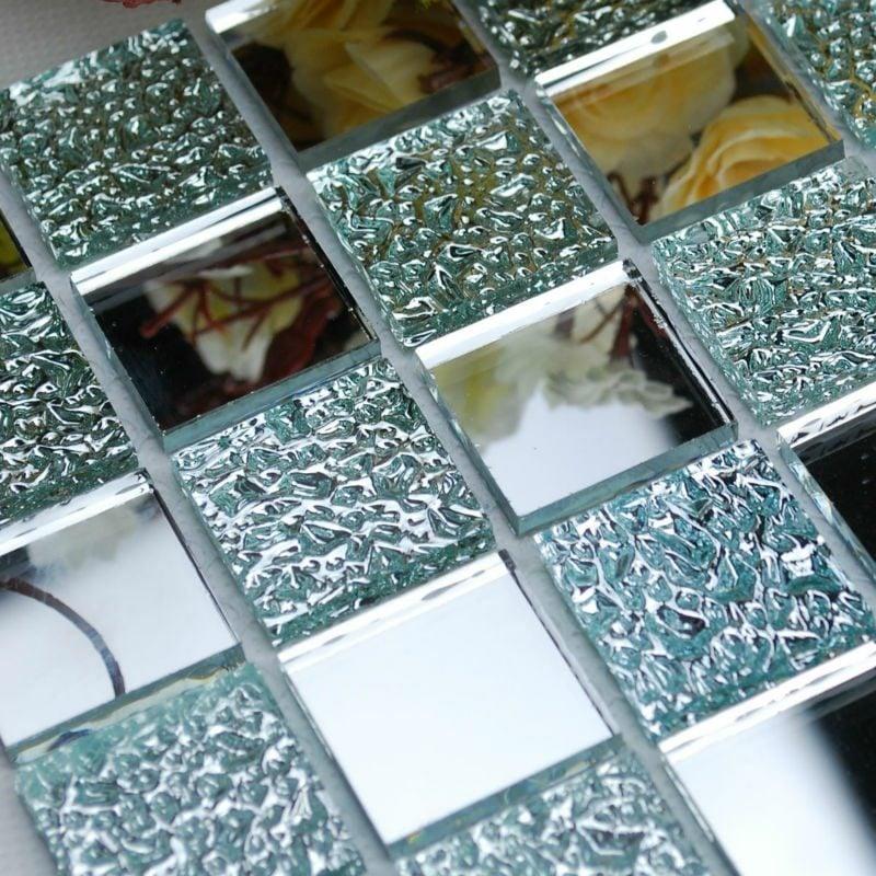 Spiegelfliesen mit Edelstein Optik originell