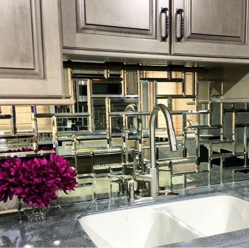 Spiegelfliesen Akzente Küche