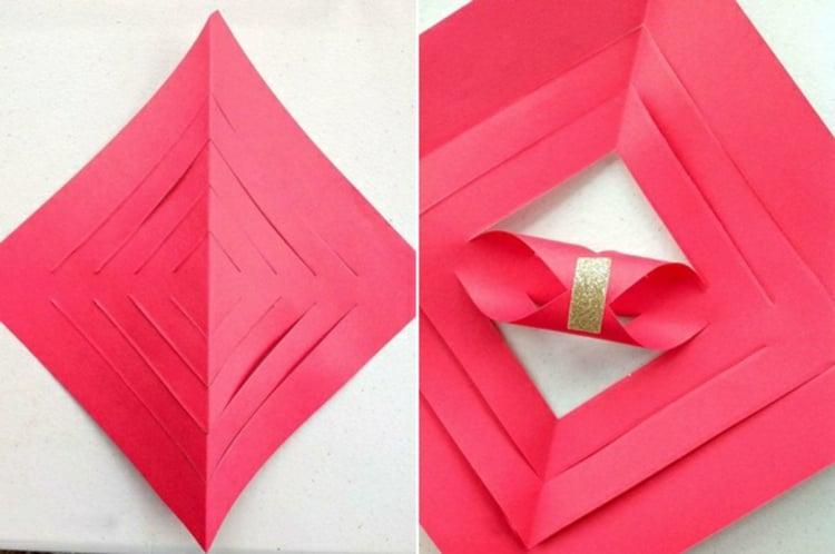 Sterne basteln aus Papier inspirierende Ideen